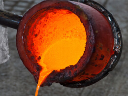Fundidor de metales casero