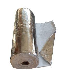 Aislamiento recubierto de aluminio - Envoltura para tubos de chimeneas 1M x12mm - VITCAS