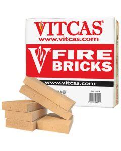 VITCAS 6 Ladrillos refractario de repuesto  caja para estufas & chimeneas - VITCAS