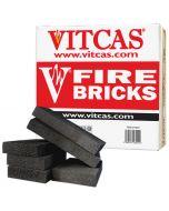 VITCAS Ladrillos refractarios-6 Negros para Estufas y Chimeneas - VITCAS